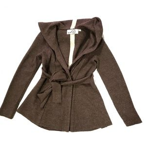 Rosie Neira Brown Boiled Wood Hooded Sweater
